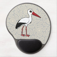 Birdorable White Stork Gel Mousepad