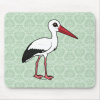 Birdorable White Stork Mousepad
