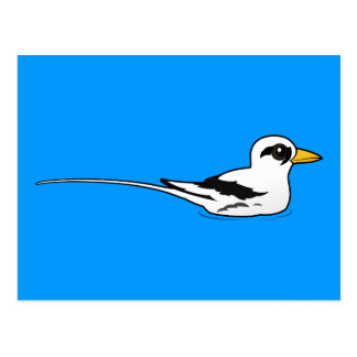 Birdorable White-tailed Tropicbird at rest Postcard