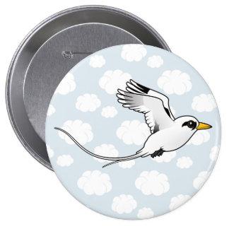 Birdorable White-tailed Tropicbird in flight Pinback Button