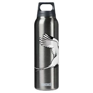 Birdorable White-tailed Tropicbird in flight Insulated Water Bottle