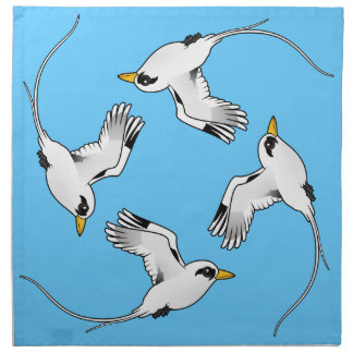 Birdorable White-tailed Tropicbird in flight Cloth Napkins
