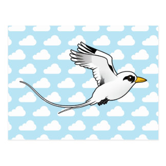 Birdorable White-tailed Tropicbird in flight Postcard
