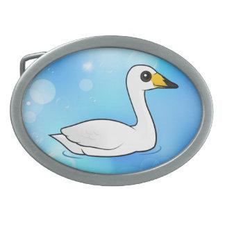Birdorable Whooper Swan Belt Buckle