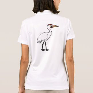 Birdorable Whooping Crane Polo Shirt