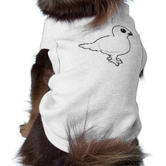 Birdorable Willow Ptarmigan, winter Dog T Shirt