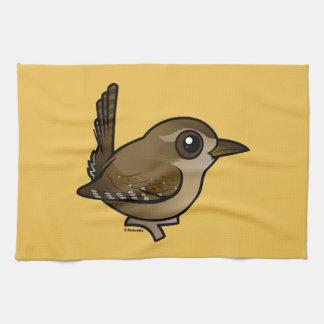 Birdorable Winter Wren Kitchen Towel