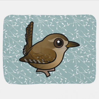 Birdorable Winter Wren Receiving Blanket