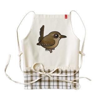Birdorable Winter Wren Zazzle HEART Apron