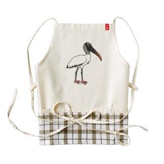 Birdorable Wood stork Zazzle HEART Apron