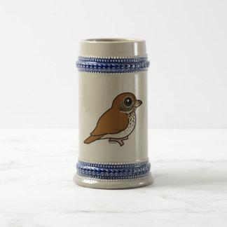 Birdorable Wood Thrush Beer Stein