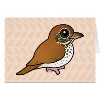 Birdorable Wood Thrush Card