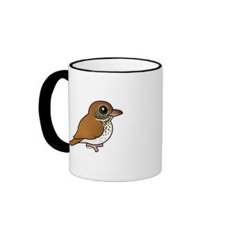 Birdorable Wood Thrush Coffee Mugs