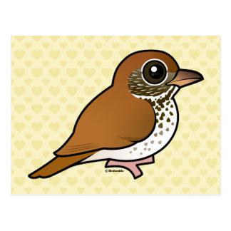 Birdorable Wood Thrush Postcard