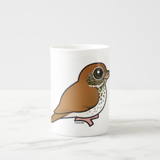 Birdorable Wood Thrush Bone China Mug
