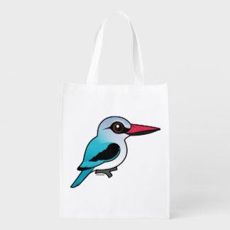 Birdorable Woodland Kingfisher Grocery Bag