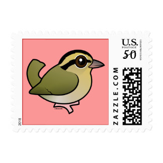 Birdorable Worm-eating Warbler Postage