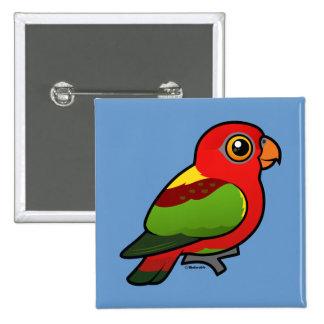 Birdorable Yellow-backed Lory Pinback Button