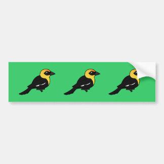 Birdorable Yellow-headed Blackbird Bumper Sticker