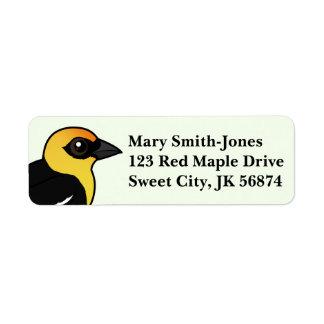 Birdorable Yellow-headed Blackbird Return Address Label