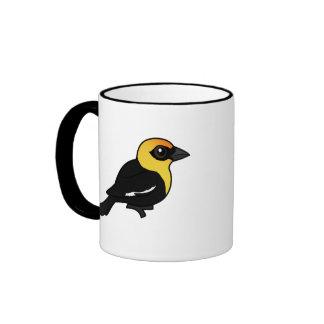 Birdorable Yellow-headed Blackbird Ringer Coffee Mug