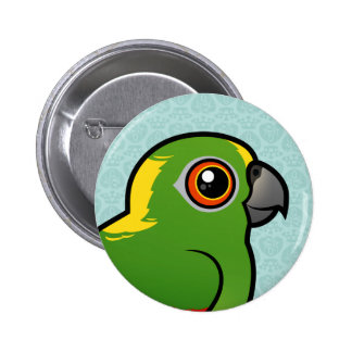 Birdorable Yellow-naped Parrot Buttons