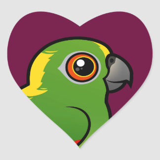 Birdorable Yellow-naped Parrot Heart Sticker