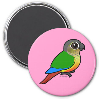Birdorable Yellow-sided Conure 3 Inch Round Magnet