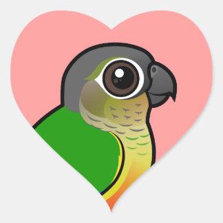 Birdorable Yellow-sided Conure Heart Sticker