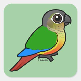 Birdorable Yellow-sided Conure Square Sticker