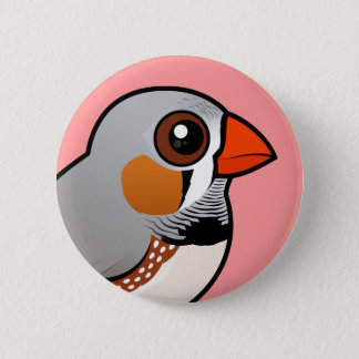 Birdorable Zebra Finch Pinback Button