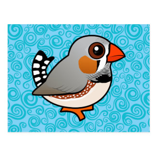 Birdorable Zebra Finch Postcard