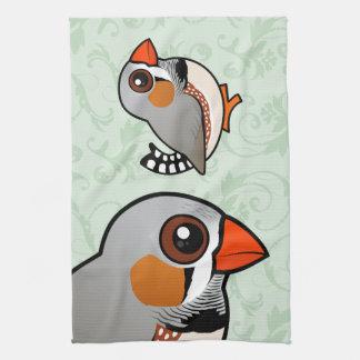 Birdorable Zebra Finch Towels