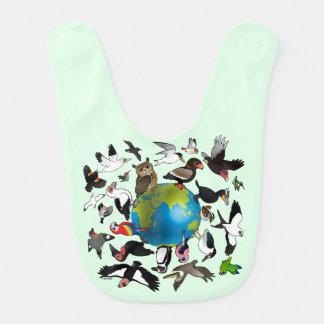 Birdorables Around the World Baby Bib