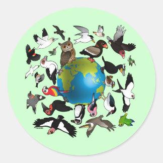 Birdorables Around the World Classic Round Sticker