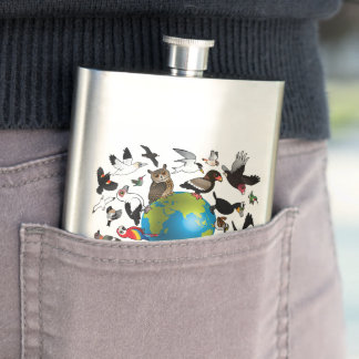 Birdorables Around the World Flask