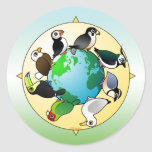 Birdorables del mundo etiqueta redonda