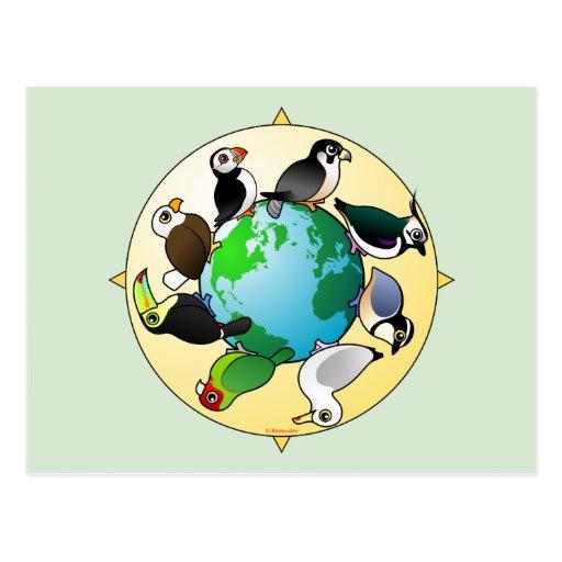 Birdorables del mundo tarjetas postales