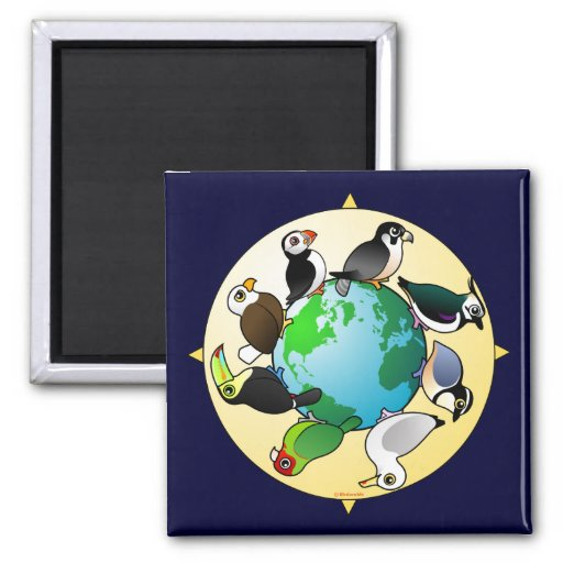 Birdorables of the World 2 Inch Square Magnet
