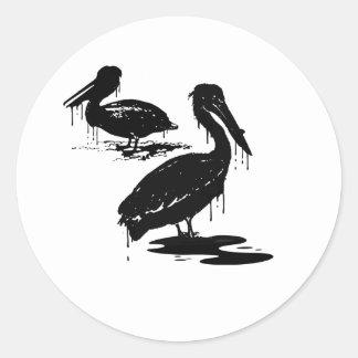 Birds1 aceitoso etiqueta redonda