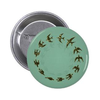 Birds 2 Inch Round Button