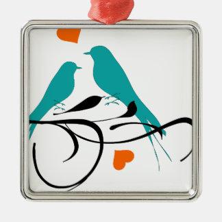 birds-308 square metal christmas ornament