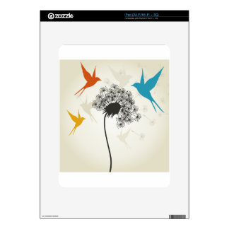 Birds a flower3 decal for the iPad