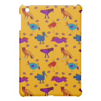 Birds - Abstract Purple Hawks & Blue Chickens iPad Mini Cover