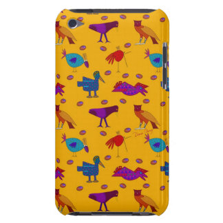 Birds - Abstract Purple Hawks & Blue Chickens iPod Case-Mate Case