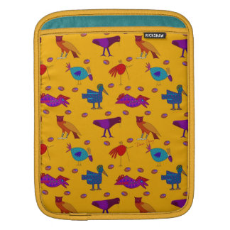 Birds - Abstract Purple Hawks & Blue Chickens Sleeve For iPads