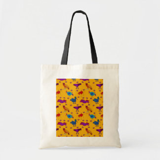 Birds - Abstract Purple Hawks & Blue Chickens Tote Bag