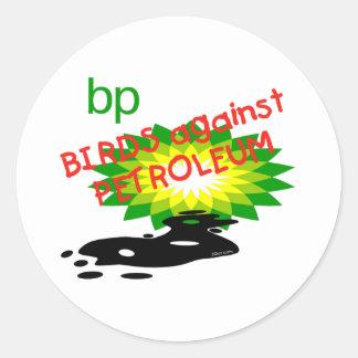 Birds against Pollution Round Sticker