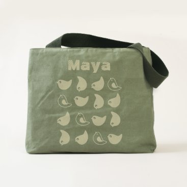 Beach Themed Birds all over canvas tote bag