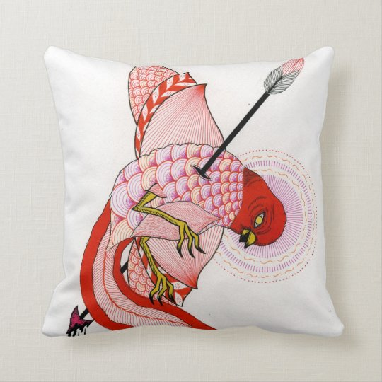 birds and arrows throw pillow
